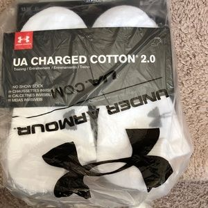 Under Armour Youth Boy Charged Cotton Socks 6pairs